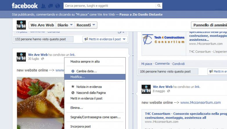 Facebook, arriva l'opzione per modificare i post