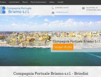Realizzazione sito web responsive Briamo Srl, compagnia portuale di Brindisi