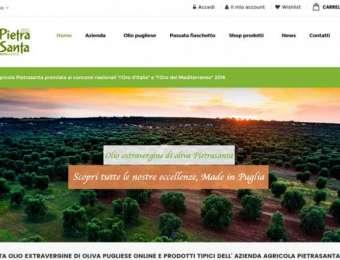 Realizzazione sito web E-commerce Azienda Agricola Pietrasanta di Carovigno (Brindisi)